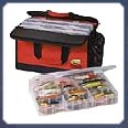 Fishing tackleboxes and storage boxes by C&F, C&H, Fishpond, Flambeau, G. Loomis, Orvis, Plano and Rapala